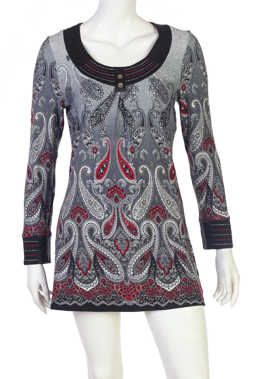 Очаровательное платье-туника с ярким принтом - купить по выгодной цене