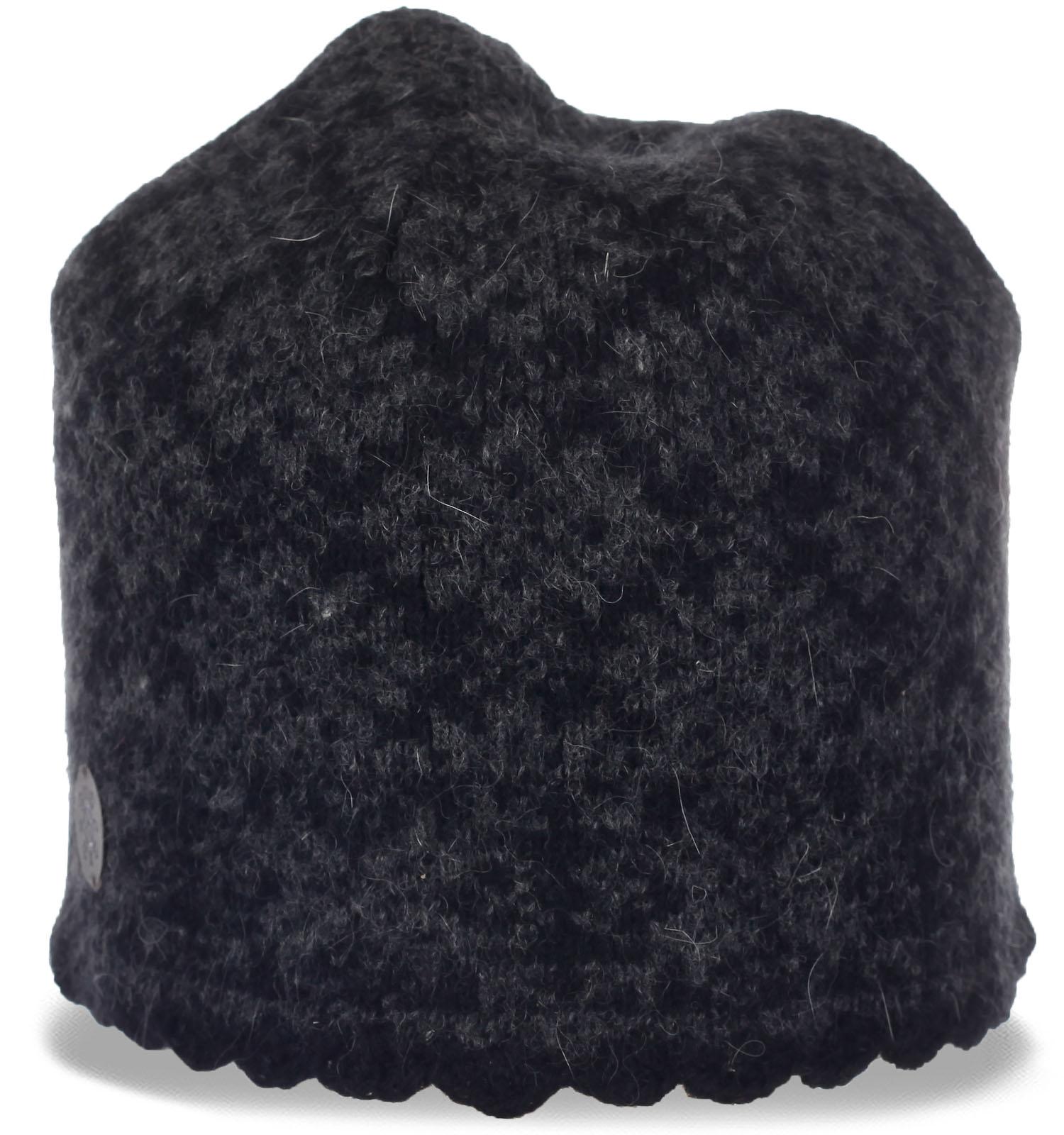 Очень теплая шерстяная шапка для девушек, ценящих моду и комфорт. Заказывай и будь самой стильной и в тепле