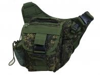 Однолямочная тактическая сумка (камуфляж Русская цифра)