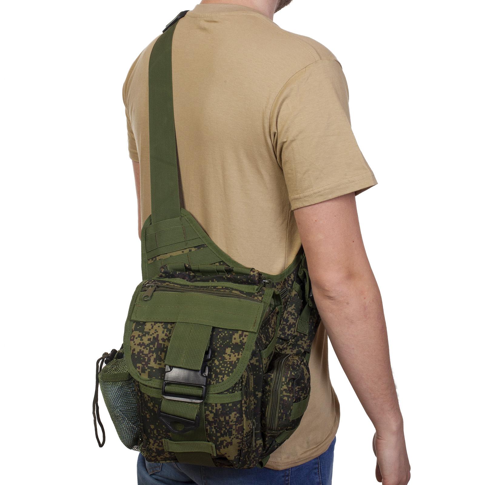 Однолямочная тактическая сумка, камуфляж Русская цифра