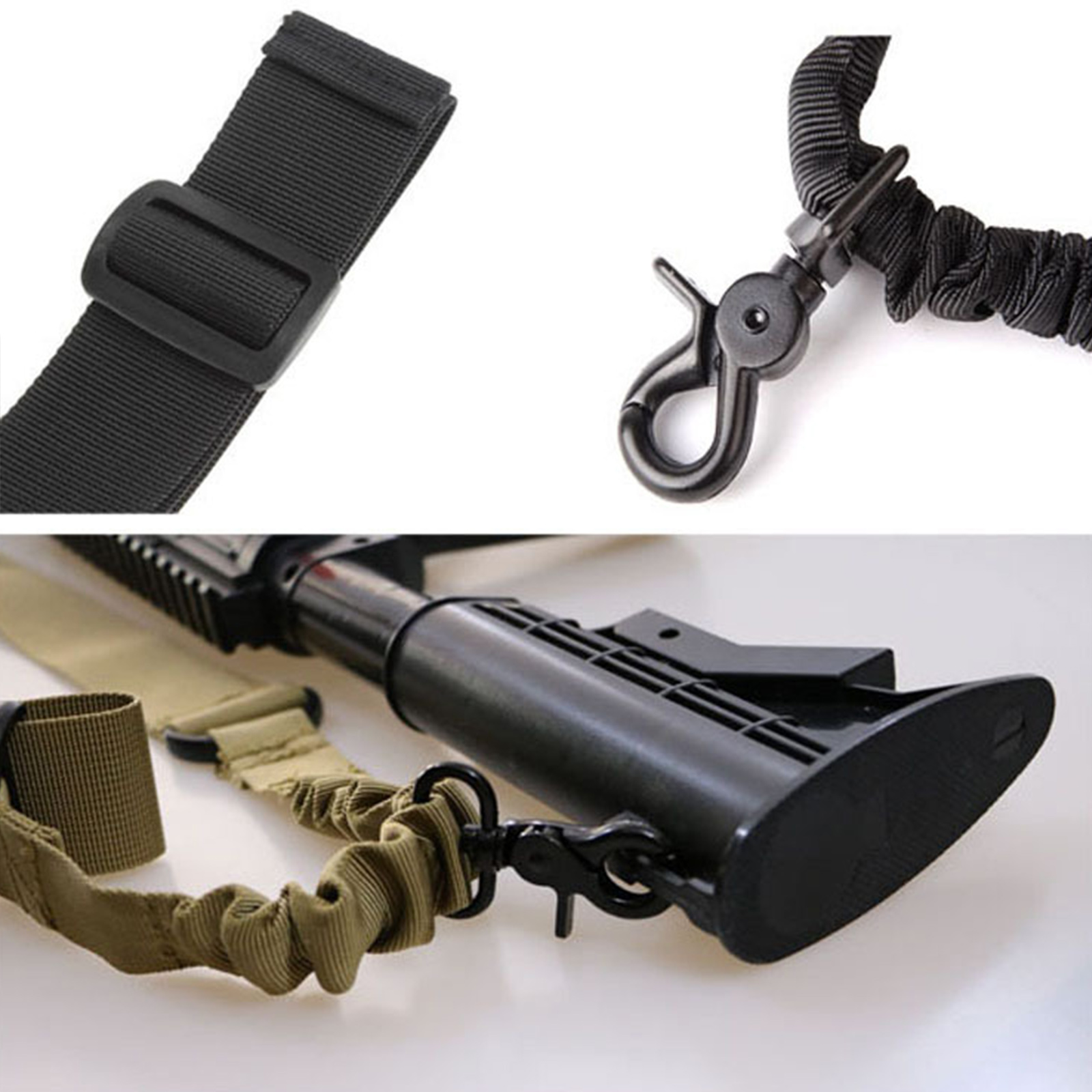 Одноточечный оружейный ремень спецназа (черный)