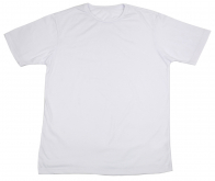 Однотонная белая футболка от Max. Универсальная модель на все случаи жизни