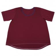 Однотонная футболка из хлопка