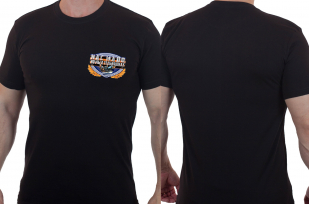 Однотонная мужская футболка ВМФ – нас мало, но мы в тельняшках!