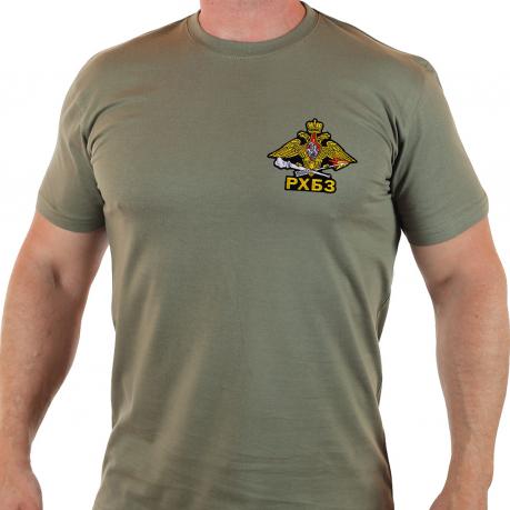 Однотонная мужская футболка с эмблемой РХБЗ