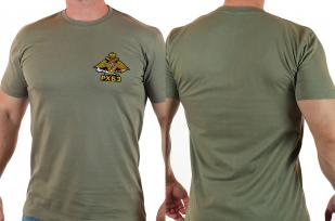 Однотонная мужская футболка с эмблемой РХБЗ купить оптом