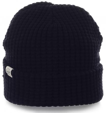 Однотонная мужская шапка Herschel. Теплая модель современного дизайна