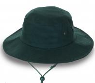 Однотонная шляпа для мужчин. Качественный пошив, регулируемый ремешок