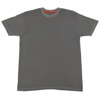 Однотонная серая футболка. Модель для спорта и отдыха
