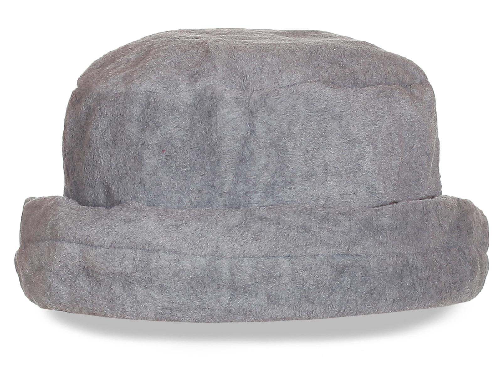 Однотонная серая шляпка. Утепленная модель