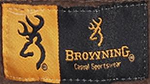 Однотонная мужская толстовка Browning с камуфляжной изнанкой капюшона.