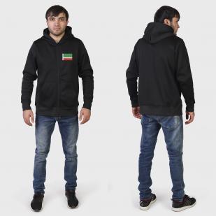 Однотонная толстовка с флагом Чечни купить в розницу