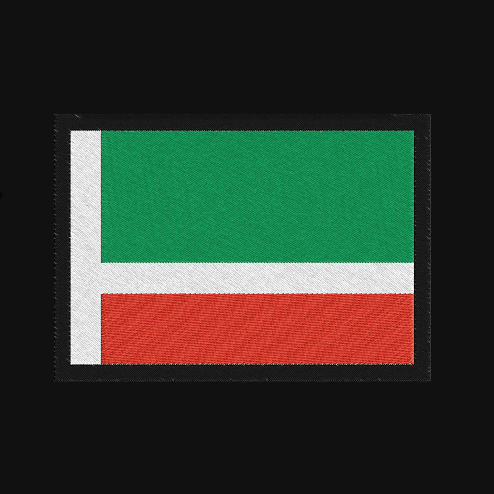 Однотонная толстовка с флагом Чечни купить в подарок