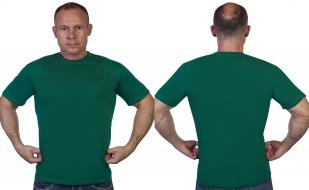 Однотонная зеленая футболка - с доставкой