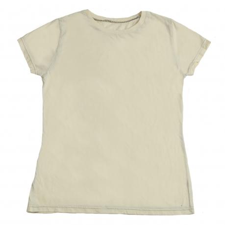Однотонная женская футболка. Классическая модель, натуральный хлопок