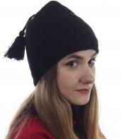 Однотонная женская шапка на флисе