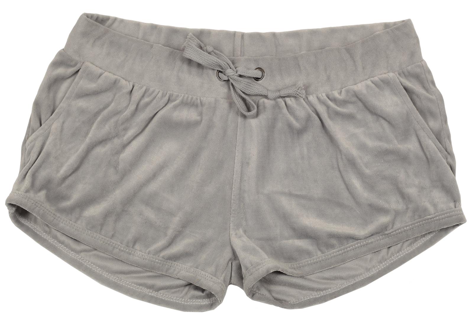 Однотонные серые шорты из мягкой ткани
