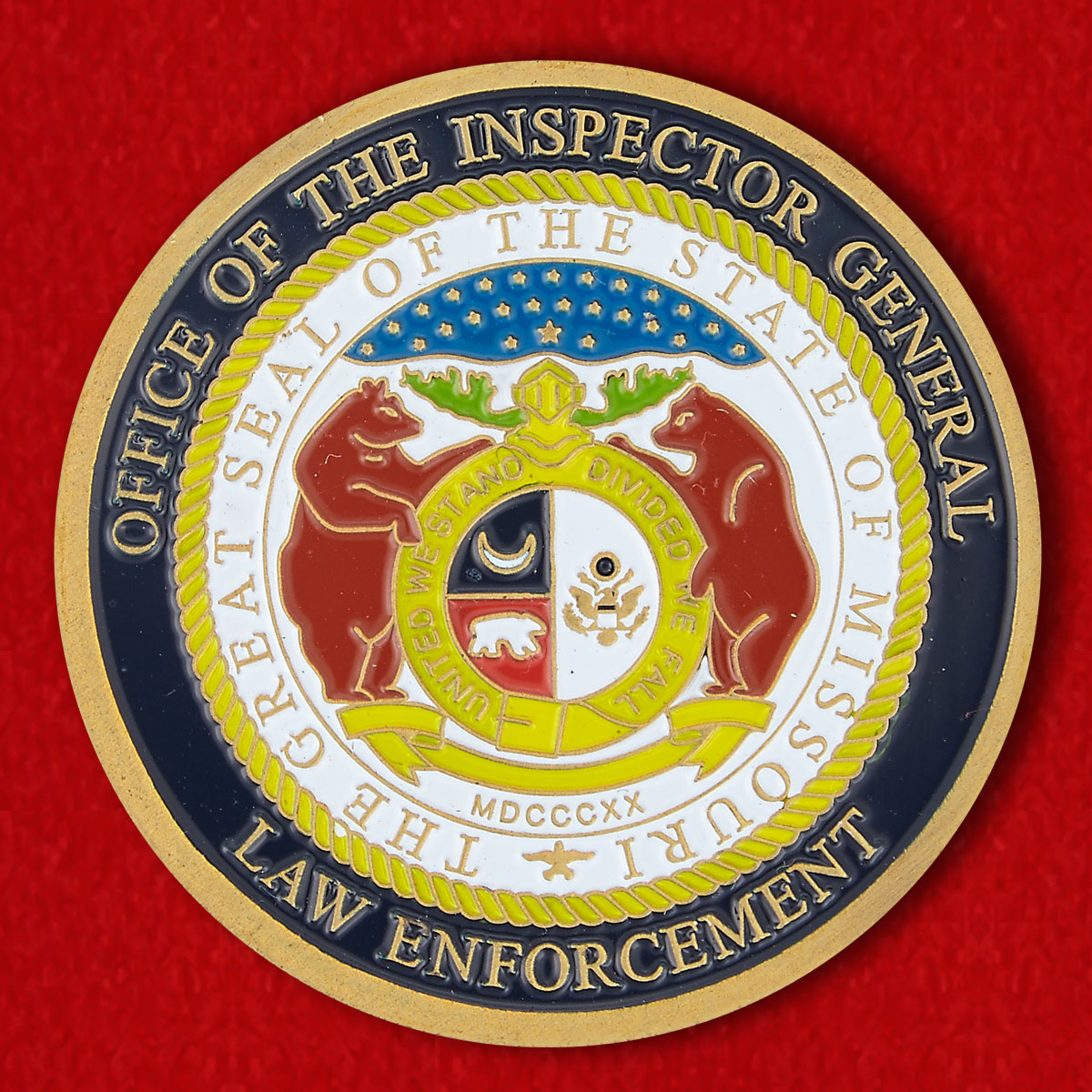 The Inspector General Enforcement Missouri Challenge Coin