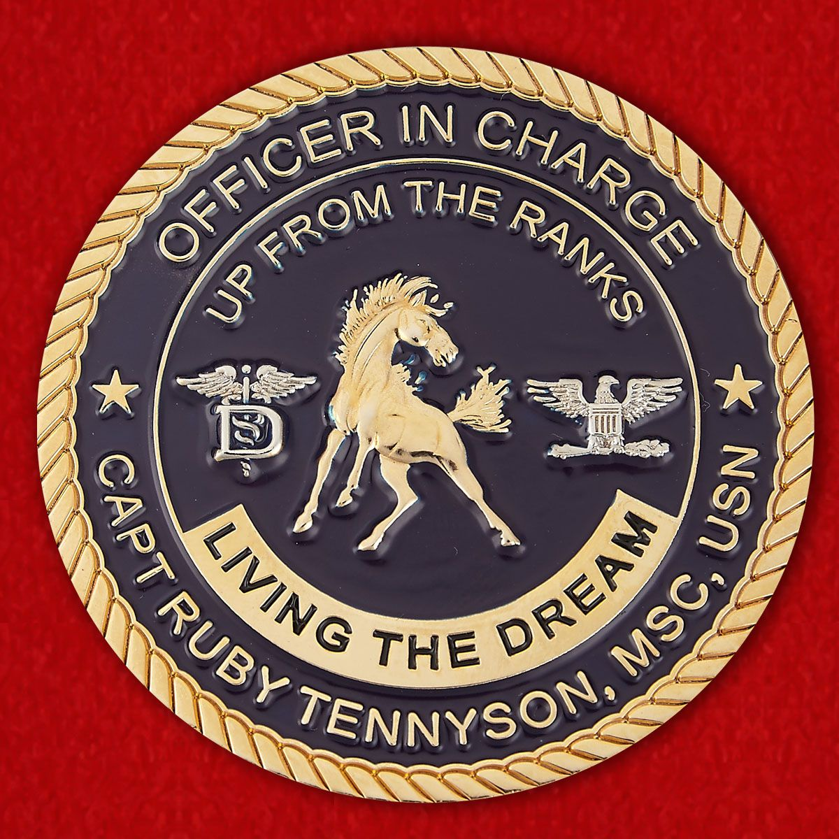 Officer in charge Сapt Rubi Tennison, MCS, USN by U.S. Naval Branch Health Clinic NSA Bahrain Challenge Coin