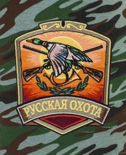 Охотничьи шорты комфортного фасона с нашивкой Русская Охота