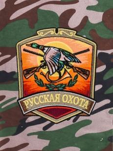 Охотничьи шорты трендового фасона с нашивкой Русская Охота
