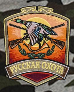 Охотничьи шорты удлиненного фасона с нашивкой Русская Охота