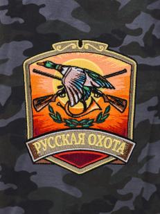 Охотничьи удлиненные шорты с карманами и нашивкой Русская Охота