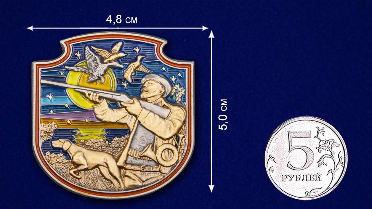 Охотничий жетон декоративный - размер