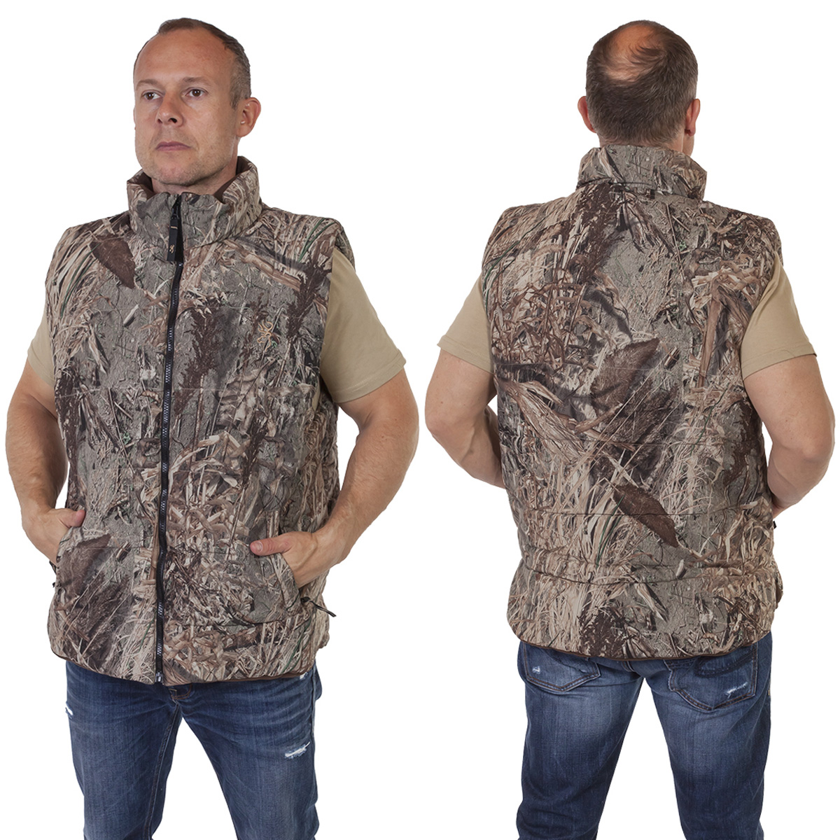 Камуфляжный охотничий жилет премиум-качества