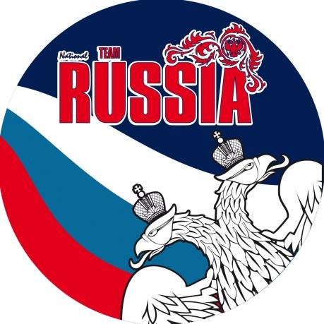 Наклейка RUSSIA «Двуглавый орёл»