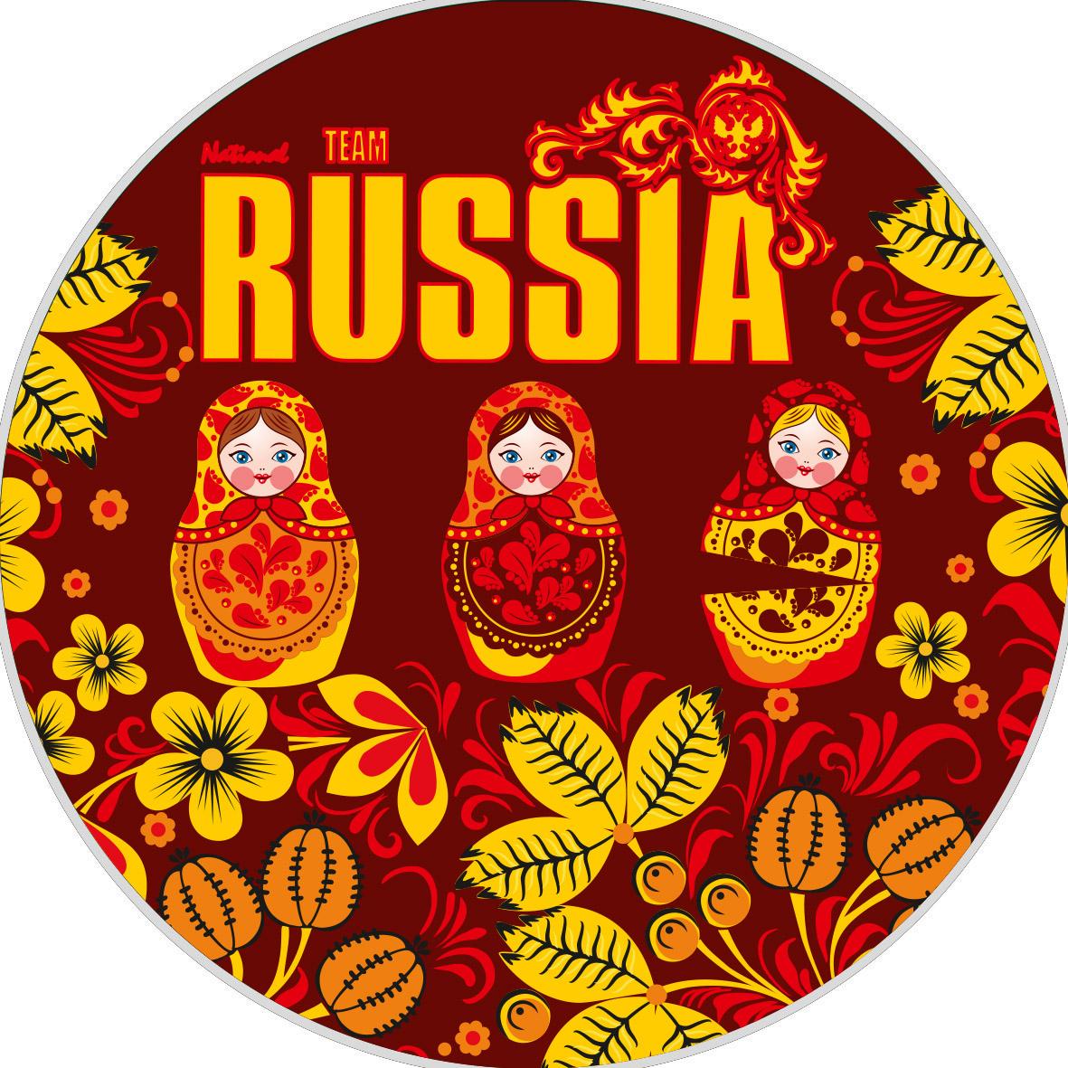 Наклейка RUSSIA «Матрёшки»