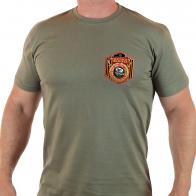 Оливковая мужская футболка Морпеха.
