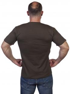 Оливковая военная футболка Разведка