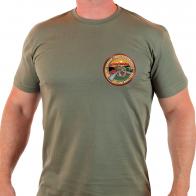 Мужская оливковая футболка ко Дню вывода советских войск из Афганистана.