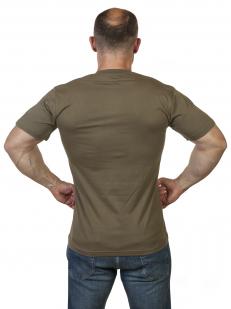 Оливковая футболка Армия России с вышивкой по выгодной цене