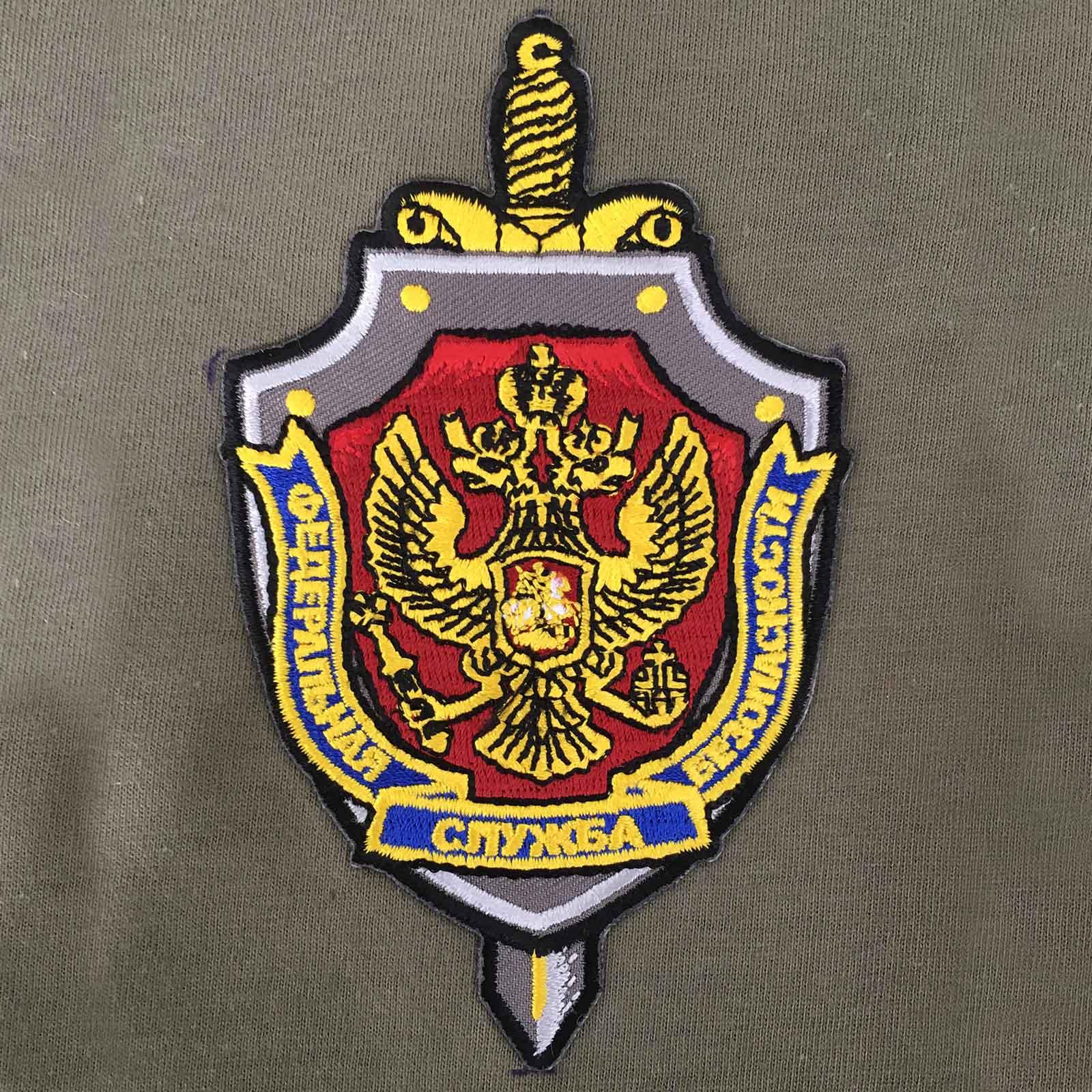 """Оливковая футболка """"ФСБ России"""""""