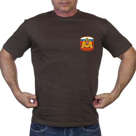 """Оливковая футболка """"Герб России"""""""