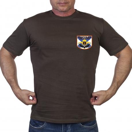 Оливковая футболка морпеха
