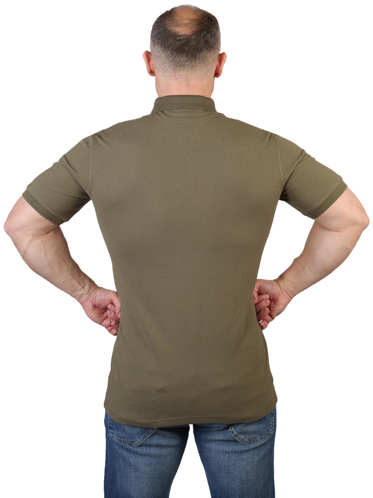 Оливковая футболка поло Армия России