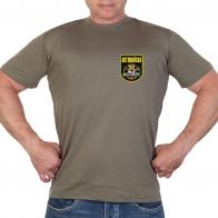 Оливковая футболка с термотрансфером Автовойска