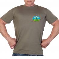 Оливковая футболка с термотрансфером Десант