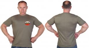 Оливковая футболка с термотрансфером для военных разведчиков