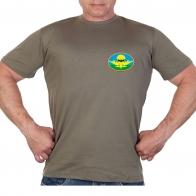 Оливковая футболка с термотрансфером-эмблемой разведки ВДВ