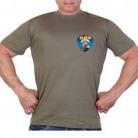 Оливковая футболка с термотрансфером ВДВ голова орла