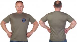 Оливковая футболка с термотрансфером ОсНаз