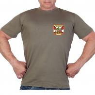 Оливковая футболка с термотрансфером РВиА