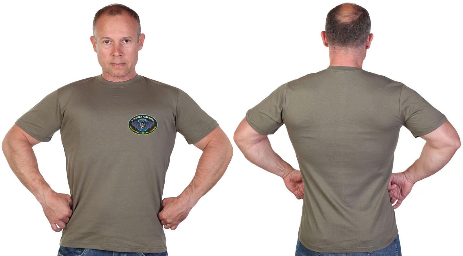 Оливковая футболка с термотрансфером Войсковой разведки