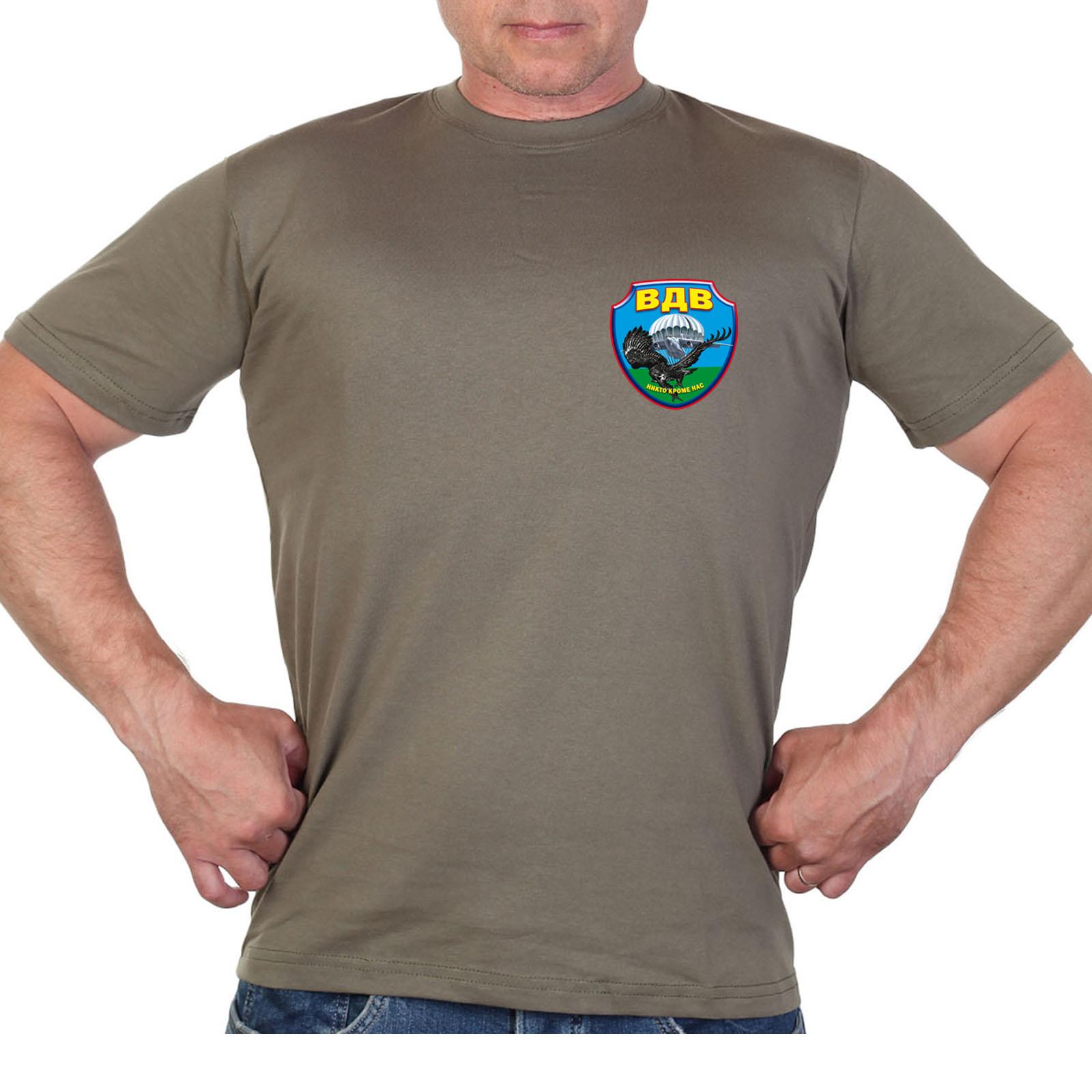 Оливковая футболка с термотрансфером Воздушно-десантных войск