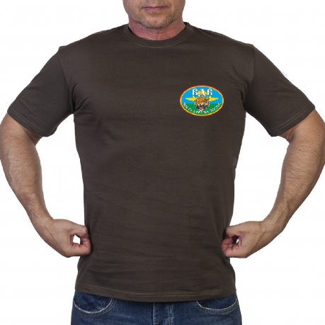 Оливковая футболка ВДВ с девизом