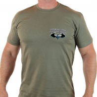 Оливковая футболка с эмблемой Военной Разведки.